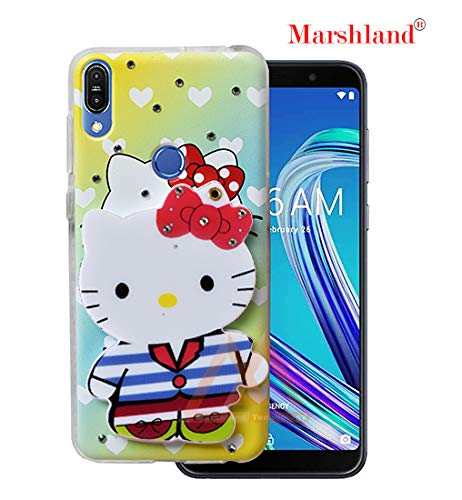 quality design 5d051 e1d73 Marshland Hello Kitty Back Cover Compatible with Asus Zenfone Max Pro (M1)  ZB601KL/ZB602K