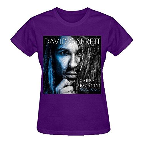 Latoca David Garrett Garrett Vs Paganini 100% Cotton Funny Tee Shirts For Women Crew Neck Purple
