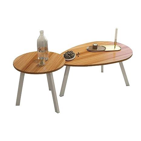 Amazon.com: Xiaoyan Mesa de café + pequeña mesa redonda de ...
