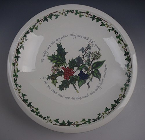 Portmeirion China THE HOLLY & THE IVY Footed Comport Sovereign Shape EXCELLENT
