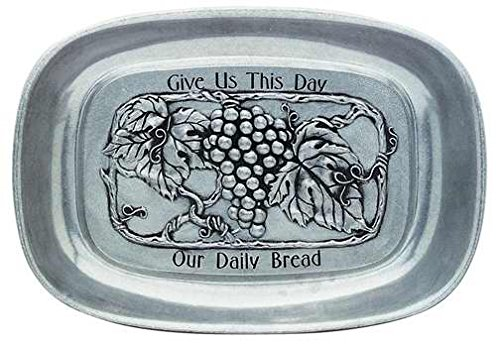 - Carson Home Accents 33783 Tray Our Daily Bread Vineyard Pewter