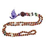Fashion Chakra Buddhist Prayer Beads Necklace Navaratan Rudraksha Beads Jewelry