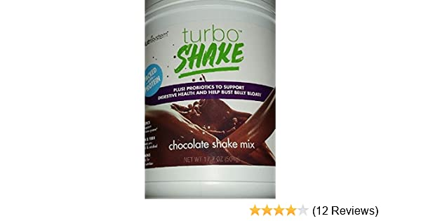 Amazon.com: NUTRISYSTEM TURBO SHAKE (Protein + Probiotics) CHOCOLATE SHAKE MIX 17.2OZ - 14 Servings - Support Digestive Health & Help Bust Belly Bloat: ...
