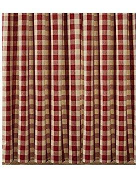 Wicklow Garnet Red Buffalo Check Shower Curtain (Red Curtain Plaid Shower)