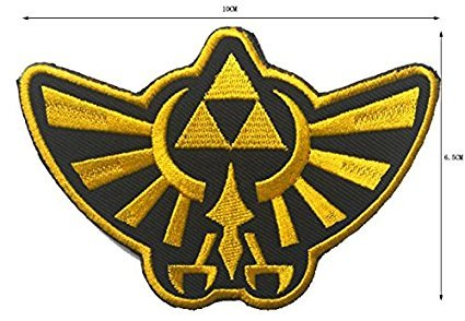 TV/Movie/Game Embroidered Patch Hyrule Logo - Legend of Zelda Series Patch -