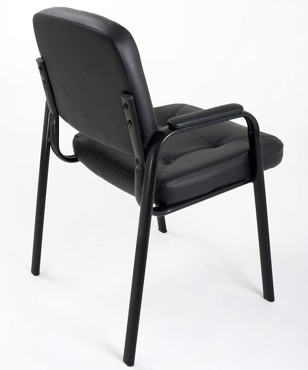 1 Notek Srl Sedie Attesa per Ufficio e ospite Imbottite in Eco Pelle per Sala conferenza riunioni Meeting Confezione da 1 o 4 sedie