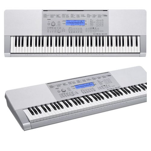 Casio WK-225 76-Key Touch Sensitive Keyboard with Power Supply by Casio