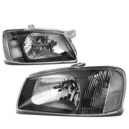(For Accent LC Pair of Black Housing Clear Corner Headlight)