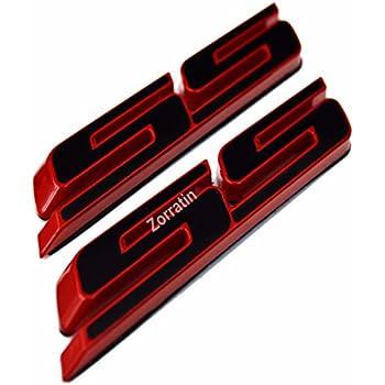 Black Vestian 2 Pair Black CAMARO Fender Side Door EMBLEMS Badge Nameplate For Chevy CAMARO GM RS SS ZL1