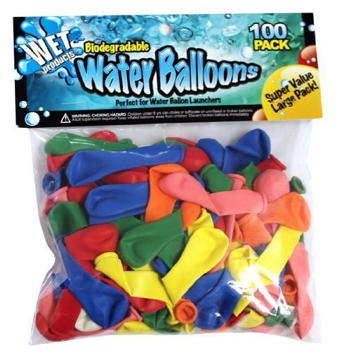 Biodegradable Water Balloons 1000 Pack by Wet Products