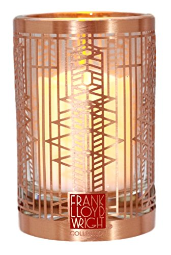 (Ebros Gift Frank Lloyd Wright FLW Architecture Reproduction Votive Candle Holder Figurine Tea Light Decor 3.25