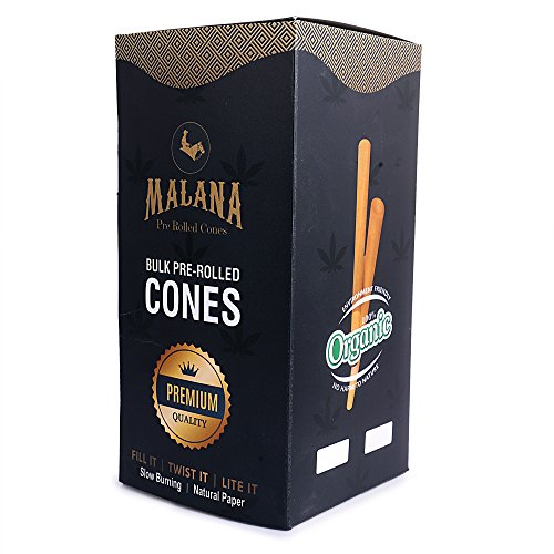Malana Pre Rolled Cones - King Size 800 Count (Natural Brown Paper) 109/26 by Roll With Us Depot (Image #1)