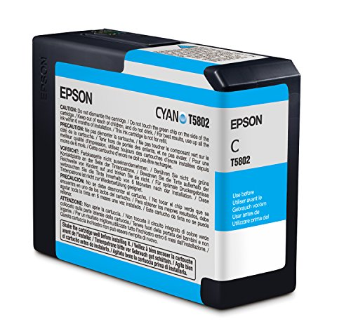 Epson T5802 UltraChrome K3 Cyan Cartridge