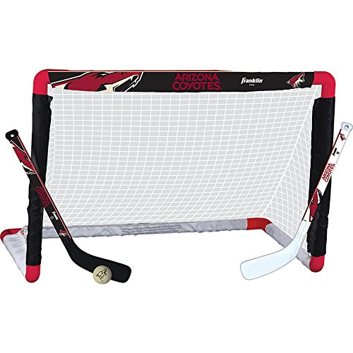 Franklin Sports NHL League Logo Arizona Coyotes Mini Hockey Set