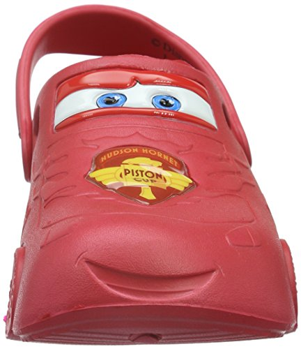 Cars and Kids Jungen Clog Boys 912 RED Clogs RED Sandals Rot Mules rwqBrCx