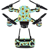Skin for DJI Spark Mini Drone Combo - Blue Avocados| MightySkins Protective, Durable, and Unique Vinyl Decal wrap cover | Easy To Apply, Remove, and Change Styles | Made in the USA