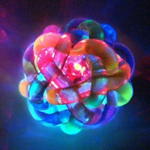 Aasha's Knotted Ball - Flashing Bouncy - Tactile - Visual Sensory - Fidget - Autism - Special Needs - ADHD - Stress Relief (by Aasha's Avenue)
