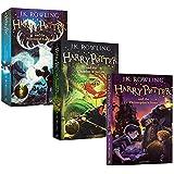 进口英文版原版正版 Harry Potter 1 2 3 哈利波特与魔法石 哈利波特与密室 哈利波特与阿兹卡班的囚徒一 二 三本合集电影原著平装小说
