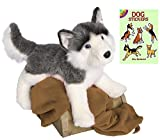 Douglas Nadia Husky Dog Plush Animal with Dog Sticker Book, 24