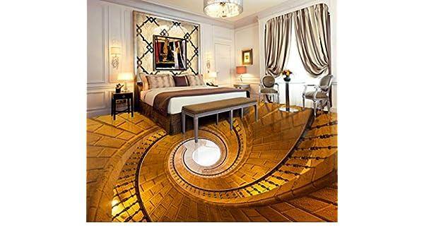 Yosot Papel pintado Suelo 3d piso de escalera escalera de caracol piso de la cocina personalizada piso de sala de estar autoadhesiva impermeable-450cmx300cm: Amazon.es: Bricolaje y herramientas