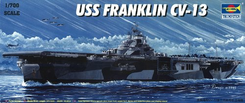 Trumpeter 1/700 USS Franklin CV13 Aircraft Carrier Model Kit