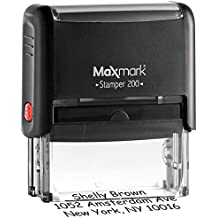 MaxMark Custom 3-Line Self Inking Return Address Stamp - Up to 3-Line Stamp Many Font Choices and Colors