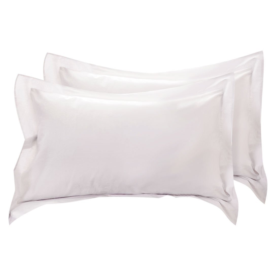 Greatest A's Easy Fit / Adjustable,Luxury Cotton Hotel & Spa Pillow Shams-with Flange[King/Cal-King, Silver Grey]