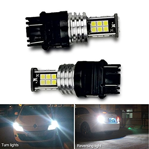 2pcs 3056 3156 3057 3157 LED Bulbs with Projector for Backup Reverse Lights...