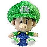 """Super Mario Brothers 5"""" Plush Baby Luigi"""