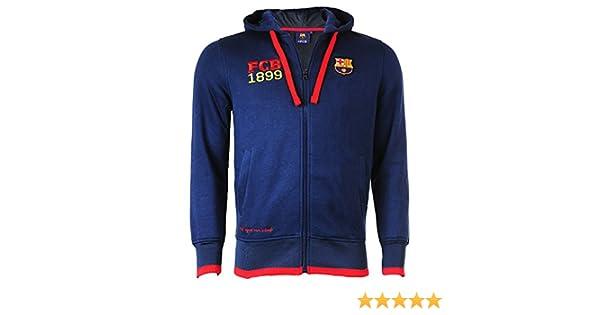 Chaqueta con cremallera con capucha Barca - Colección oficial FC Barcelona - Talla de Niño: Amazon.es: Deportes y aire libre