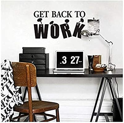 Wall Sticker Back Work Wall Decal Inspiration Quote Vinyl