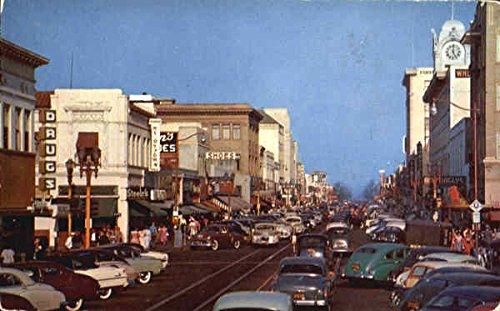 Fourth Street Shopping District Santa Ana, California Original Vintage - Shopping Ana Santa