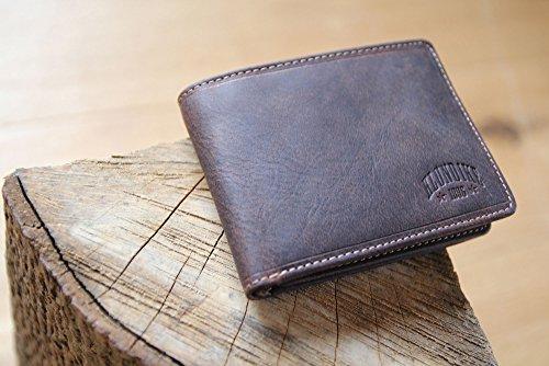 """Echtleder Geldbörse ohne Münzfach von KLONDIKE 1896, Portemonnaie """"Billy"""