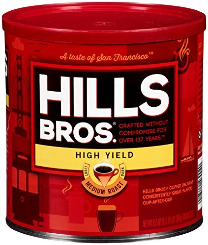Hills Bros Coffee, High Yield Medium Roast Ground, 30.5 Ounce (Pack of - High Bro
