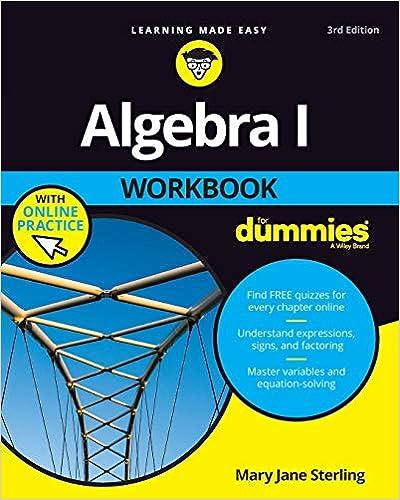Algebra 1 Workbook for Dummies