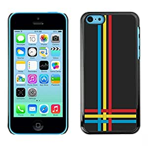 All Phone Most Case / Oferta Especial Duro Teléfono Inteligente PC Cáscara Funda Cubierta de proteccion Caso / Hard Case iPhone 5C // Blue Yellow Red