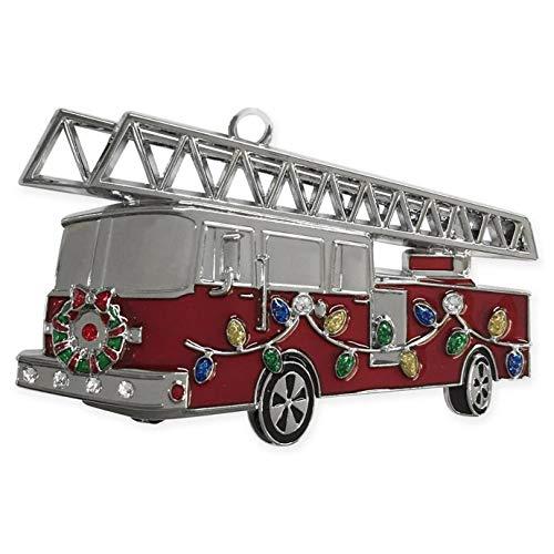 Harvey Lewis Swarovski Fire Truck Ornament in - Ornament Fire Engine