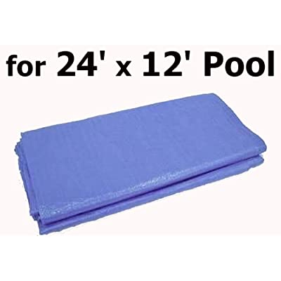 Intex 24' x 12' Ultra Frame Metal Oval Ellipse Pool Replacement Tarp/Ground Cloth: Garden & Outdoor