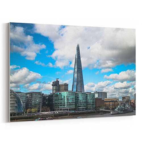 Westlake Art Sky Urban - 16x24 Canvas Print Wall Art - Canvas Stretched Gallery Wrap Modern Picture Photography Artwork - Ready to Hang 16x24 Inch - Corporate Obelisk