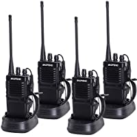 Nestling 4pcs baofeng R-7 Two Way Radio Long Range UHF 400-470MHz Signal Frequency Single Band 16 CH Walkie Talkies with Original Earpiece (4 Pack)