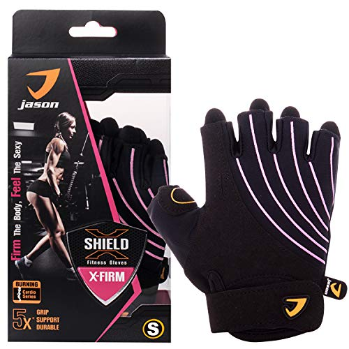 Kuron Store X-Firm Anti Slip Grip Full Palm Protection Gym Fitness Cardio Gloves
