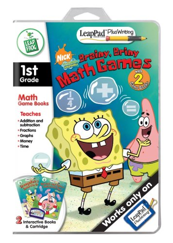LeapFrog LeapPad Plus Writing Educational Book: SpongeBob SquarePants - Brainy, Briny Math Games