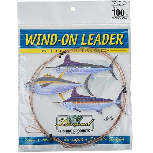 Melton Tackle Diamond X-tra Hard Mono Wind-On Leader - 100lb. test