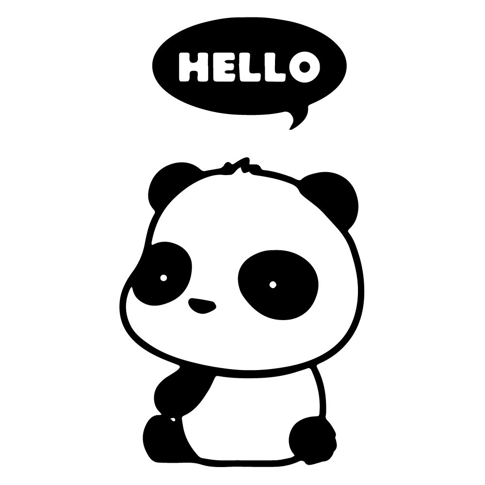 Amazoncom Hello Panda Thought Bubble Cute Cartoon Vinyl Decal - Cute custom vinyl stickers   for business
