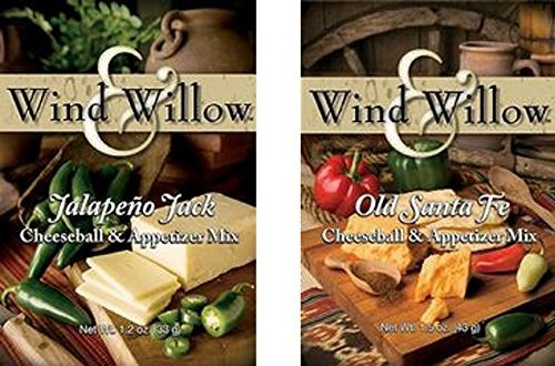 [Wind & Willow All American Savory Cheeseball and Dip Mix Variety Pack (Jalapeno Jack / Old Santa Fe) by Wind & Willow] (Jalapeno Cheeseball)