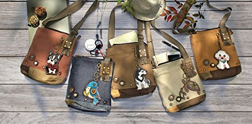 Bag Body Metal Patch Canvas Handbag Sand Bird Cross Chala Messenger Women A0qxaxEf