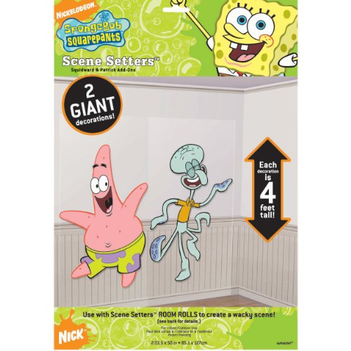 Patrick & Squidward Scene Setter Add-Ons | SpongeBob Collection | Party Accessory -