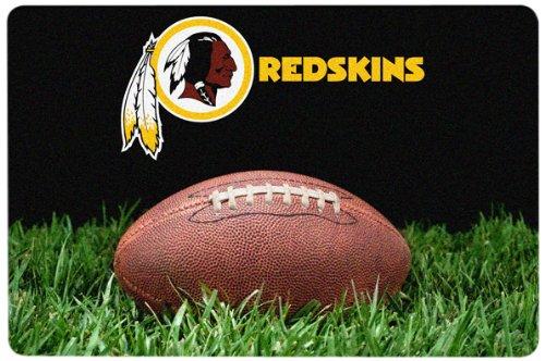 NFL Washington Redskins Classic Football Pet Bowl Mat, Large