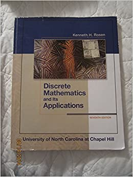 Book Discrete Mathematics and Its Applications by Kenneth H. Rosen (2012-12-15)