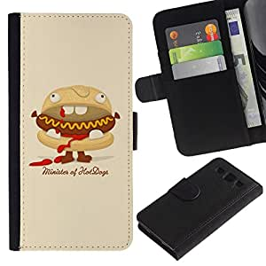 All Phone Most Case / Oferta Especial Cáscara Funda de cuero Monedero Cubierta de proteccion Caso / Wallet Case for Samsung Galaxy S3 III I9300 // Funny Minister Of Hot Dogs Burger
